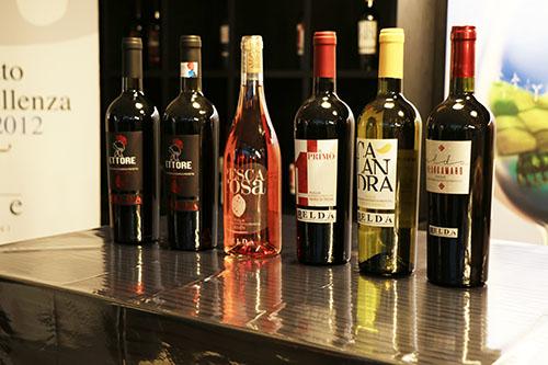 i vini della cantine Elda nero di troia negroamaro bombino